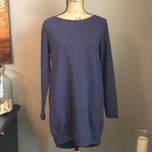 NWT European Culture Knit Dress Navy Blue Medium
